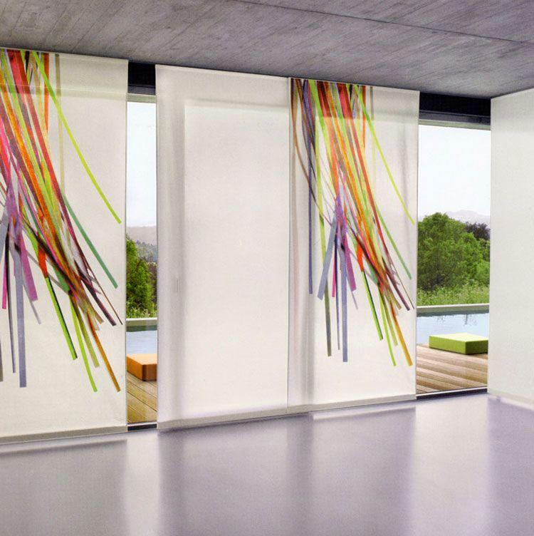 Immagini Di Tende Moderne.50 Esempi Di Tende A Pannello Moderne Per Interni Tende A