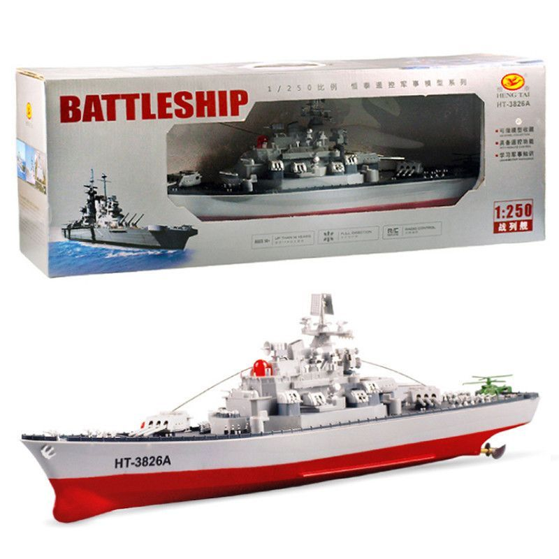 RC Battleship Model HT-3826A Remote Control Ship Model Toys Central