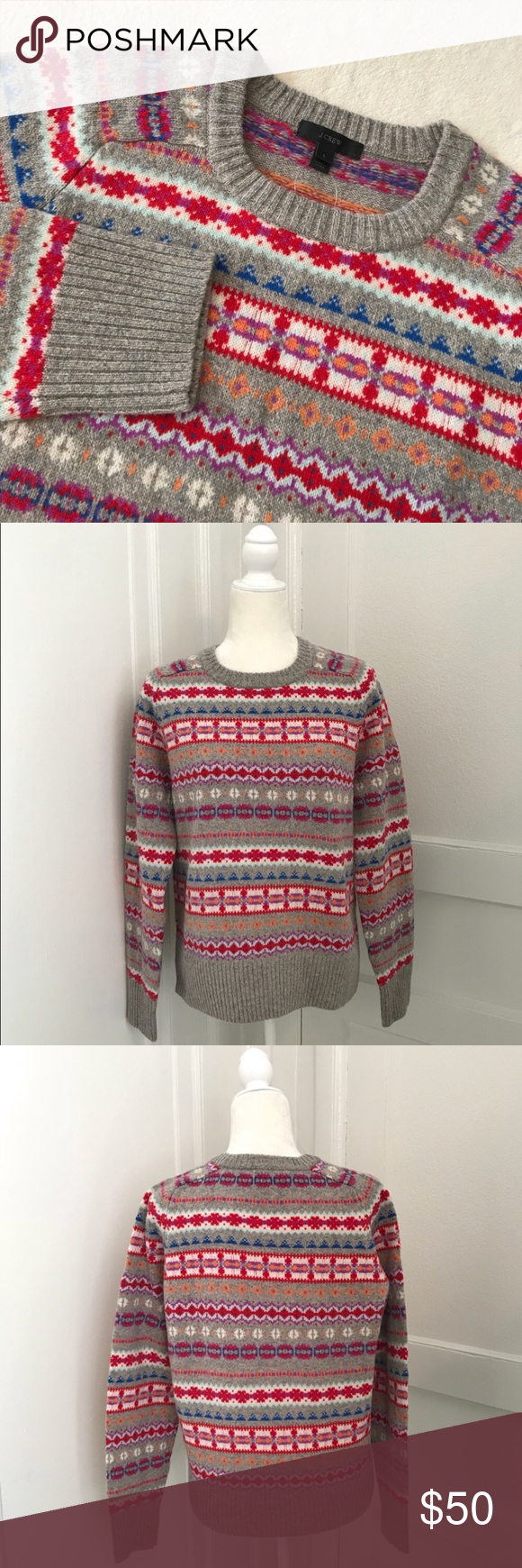 J. Crew Holly Fair Isle Sweater | Fair isles and Scoop neck