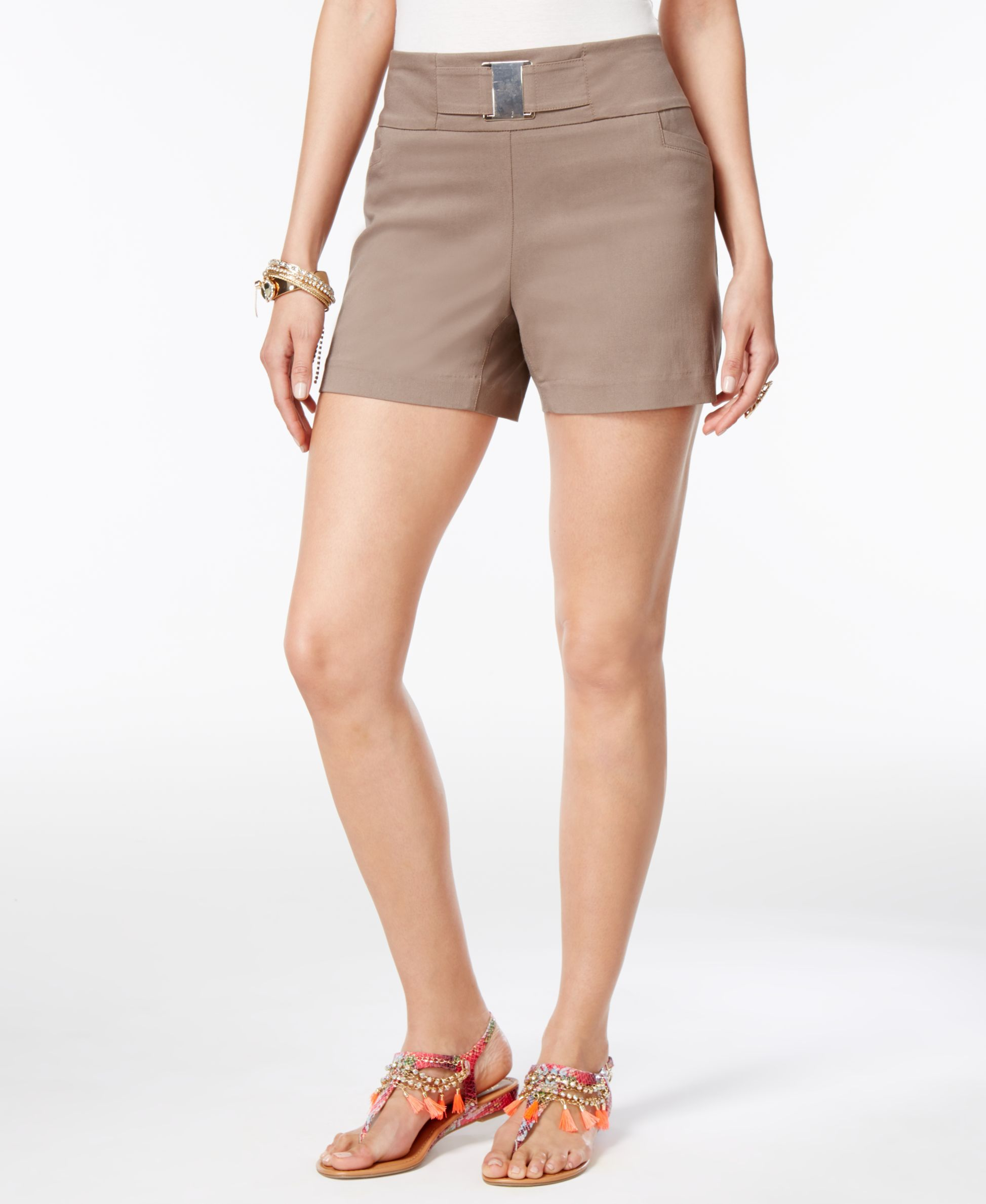 Thalia Sodi Buckle-Detail Shorts, Only at Macy's