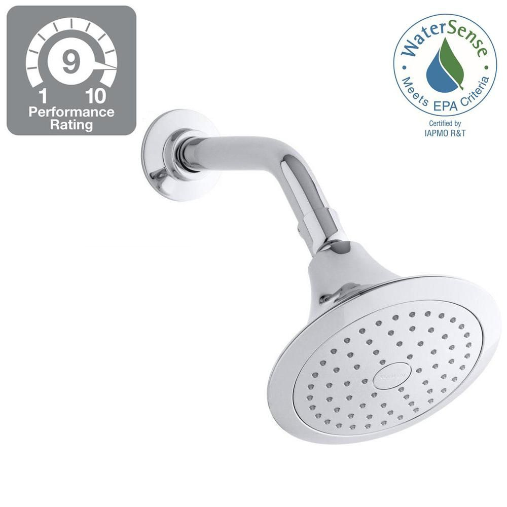 Kohler Forte 1 Spray Single Function 5 1 2 In Showerhead In