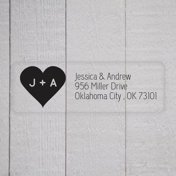 Wedding Invitation Return Address Labels, Clear Wedding