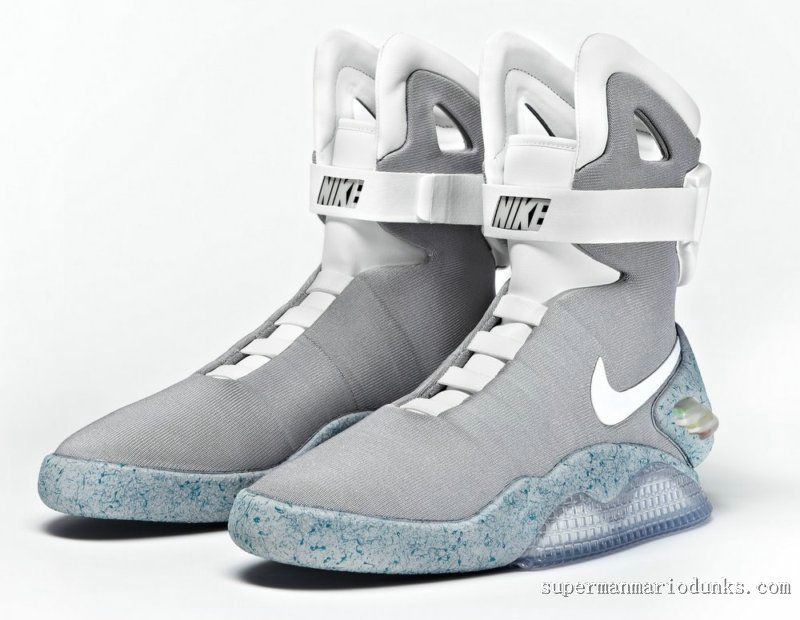 promo code b3b36 e50f3 Nike Mag Shoes Glow In The Dark High Tops Grey Cheap Sale-Buy Real .