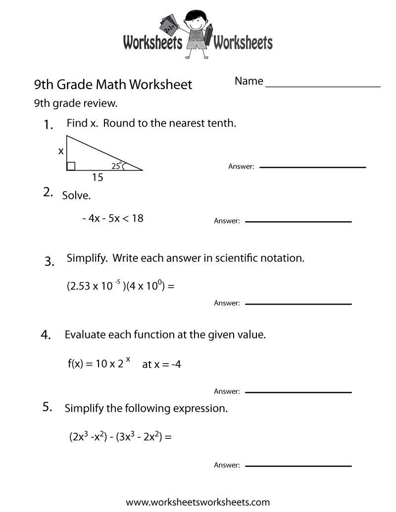 17 Images of 9th Grade Worksheets With Answers | 9th grade ...