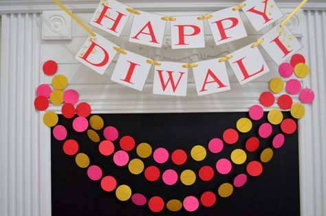 Diwali Decorations, Happy Diwali Banner Indian Festival of Lights decor, Divali Nagar, Hindu Festival, Laxmi Puja, Diwali Decoration