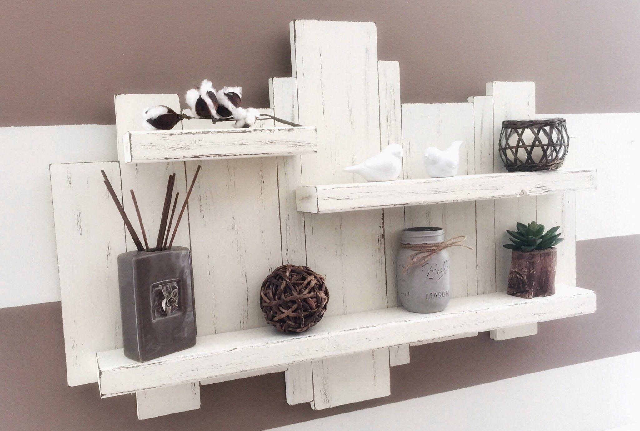Floating Pallet Shelf Rustic Wall Shelves Wall Art Diy Easy