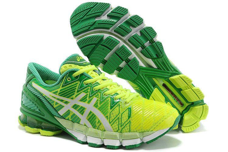 Asics Gel Kinsei 5 Mens Running Shoes Fluorescent Green White