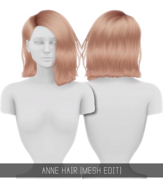 Simpliciaty Anne Hair Mesh Edit Sims Hair Păr