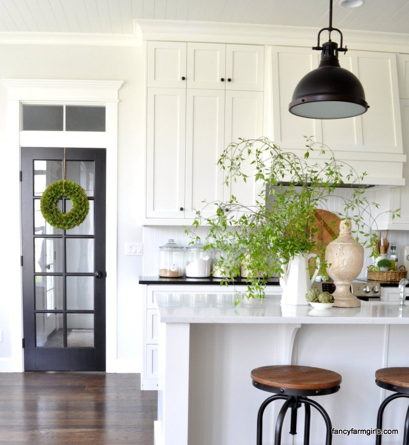 Upper Kitchen Cabinet Decorations: Spring Decor Inspiration