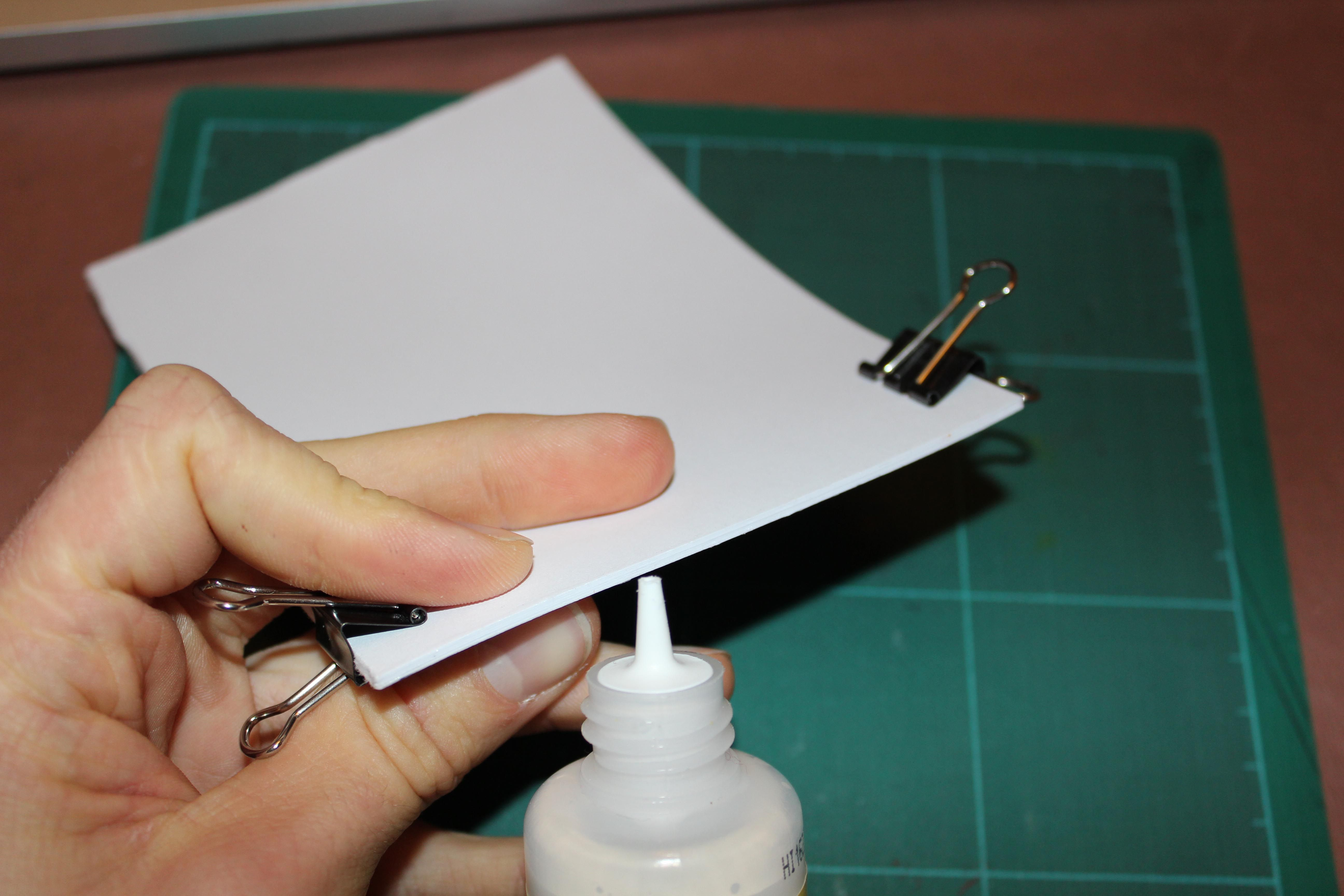 I have created a small mock up that tested the perfect binding method. Using PVA brushed along one edge gave a strong bind to the pages and a neat overall finish. I will definitely use this method of binding to construct my final artifact.