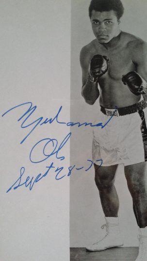 45d5bd6578c Muhammad Ali Autographed Color Vintage Signature 8x10 Photo - Full JSA LOA