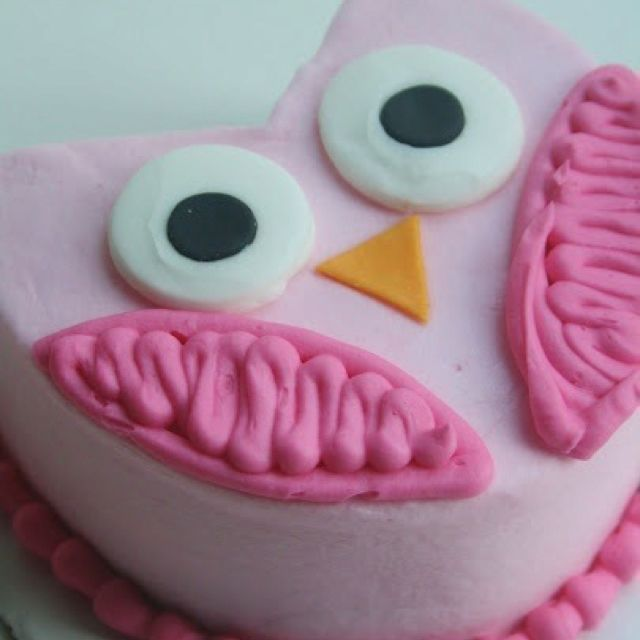 Owl cake Katie thats pretty dang cute too HooRay