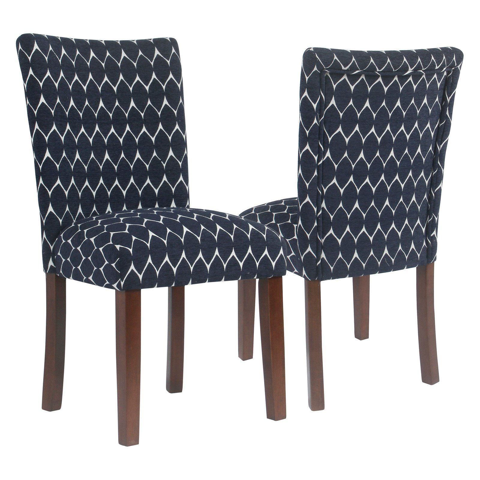 Homepop Textured Parsons Chair Set Of 2 Patterned Dining Chairs Dining Chairs Parsons Dining Chairs Parsons chairs set of 2