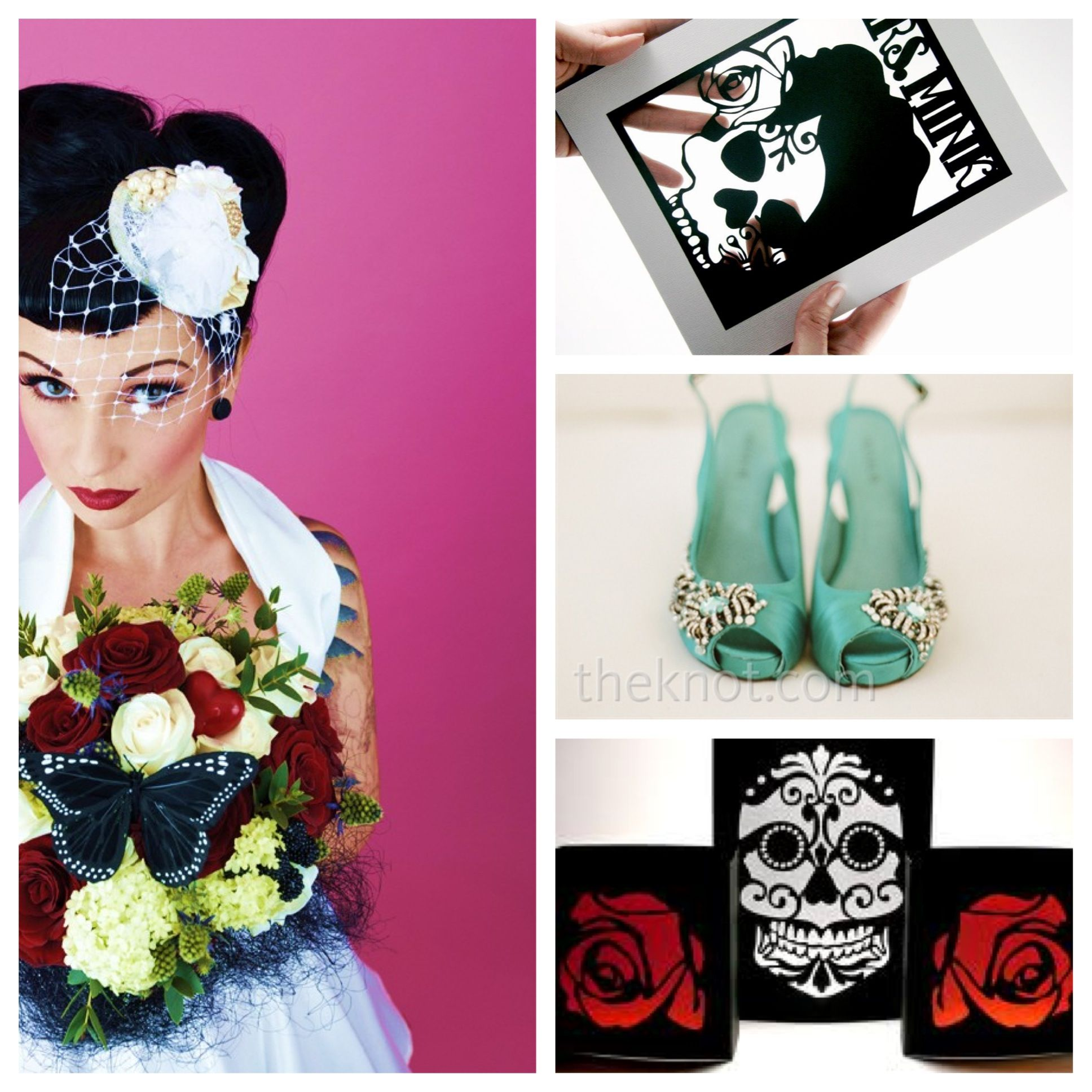 Day of the Dead wedding ideas - sugar skull luminaries and chair ...