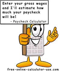 Free Online Paycheck Calculator for calculating your net take home ...