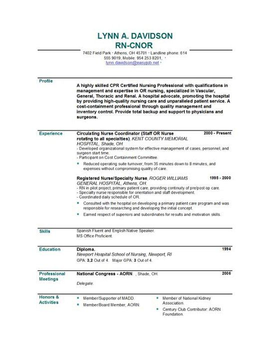 resume objective writing example profile sample nurse Home - resume objective for first job