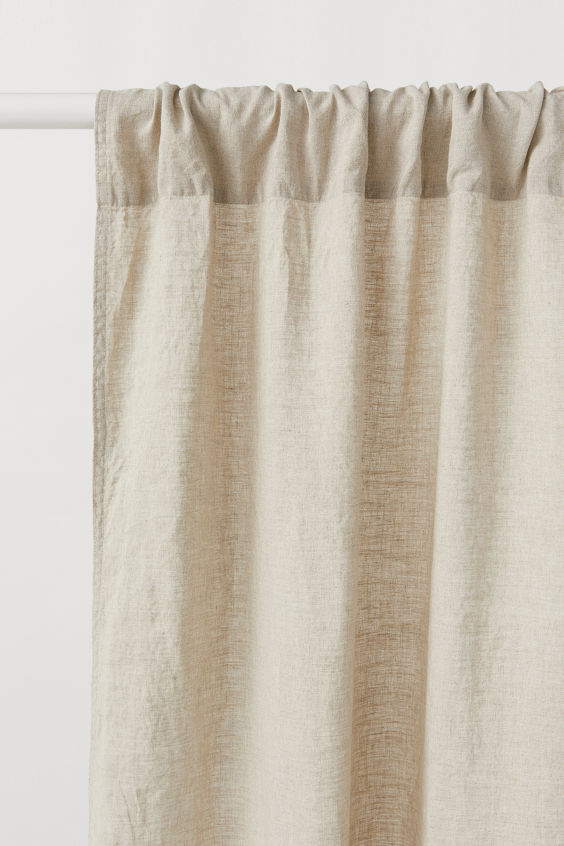 2 Pack Linen Curtain Panels With Images Linen Curtains Linen