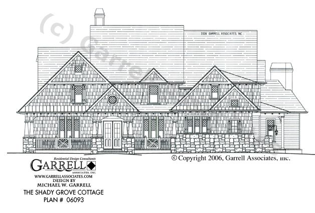 Garrell Associates IncShady Grove Cottage House Plan 06093