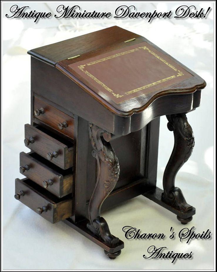 Antique Miniature Davenport or Captain's Desk - Antique Miniature Davenport Or Captain's Desk Stuff To Buy