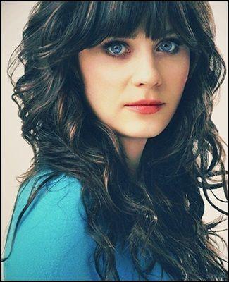 Women With Dark Hair And Blue Eyes Zooey Deschanel Hair Hair