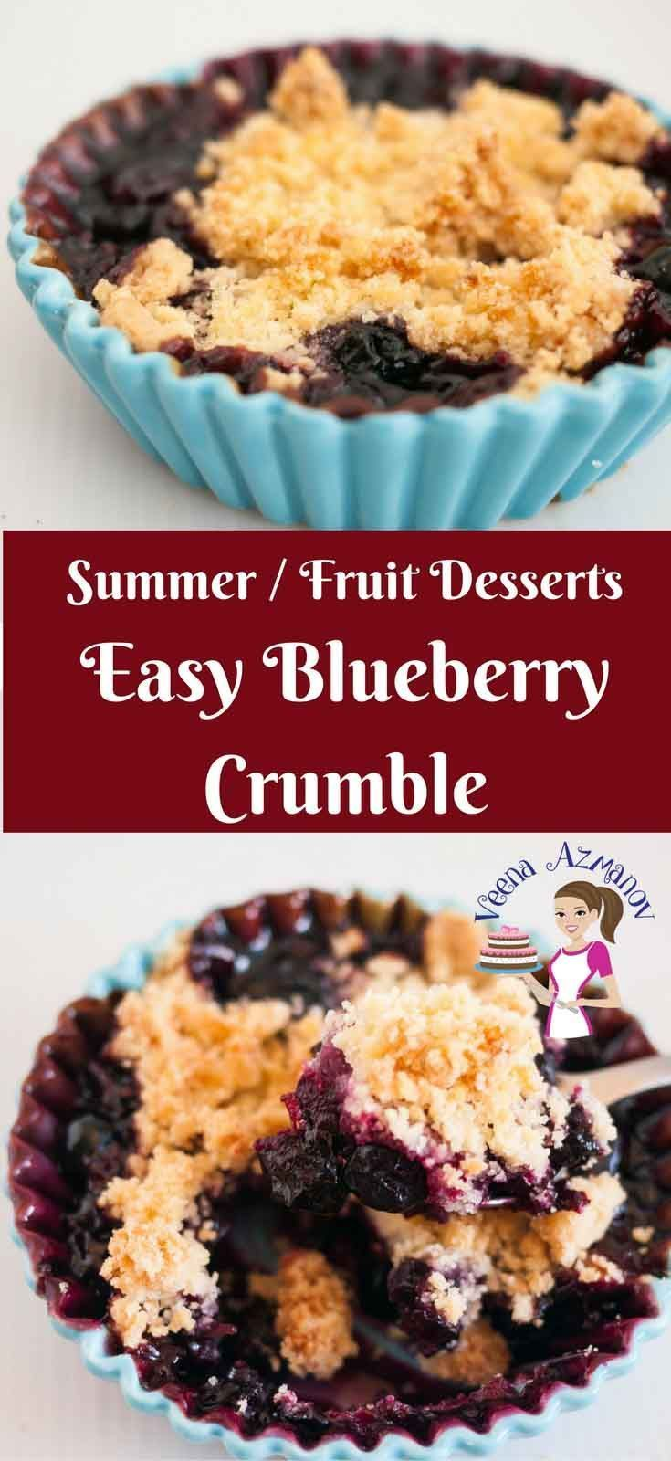 There Is Nothing More Delicious In Summer Than Fresh Sweet Berries Is Season This Ea Easy Blueberry Crumble Dessert Recipes Easy Easy Blueberry Crumble Recipe