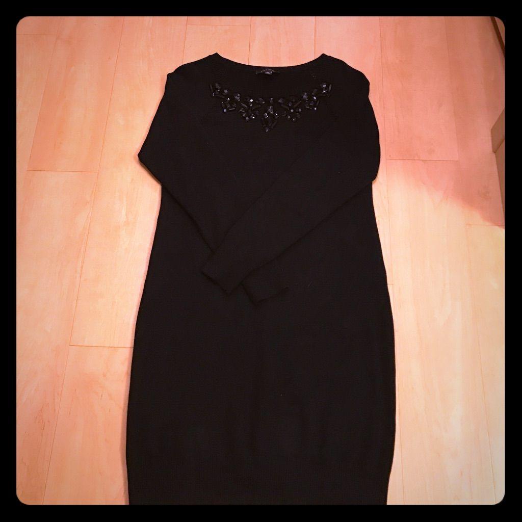 Jeweled Sweater Dress