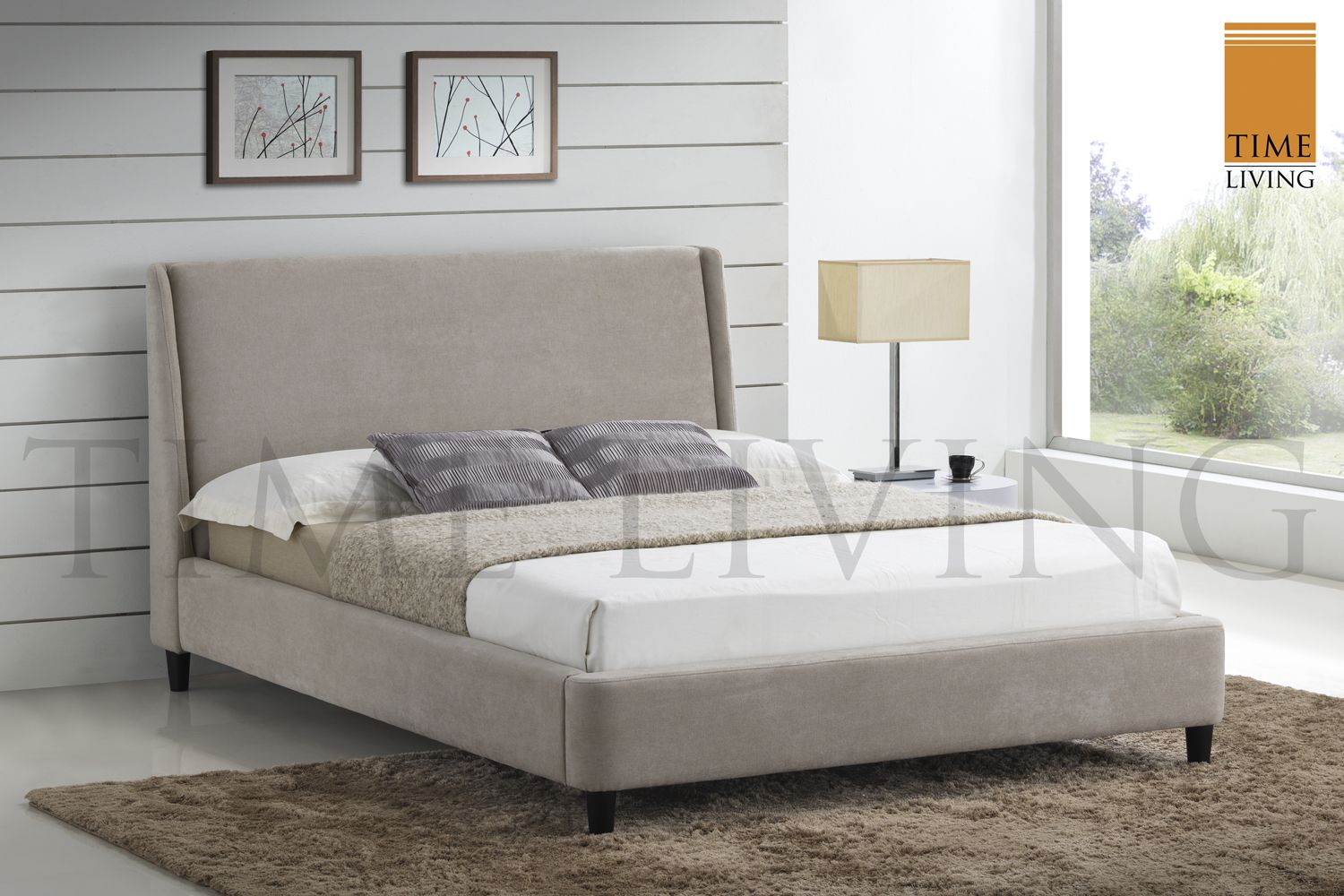 Time Living Exclusive Edburgh Fabric Bed Frame | Saso.co.uk | Main ...