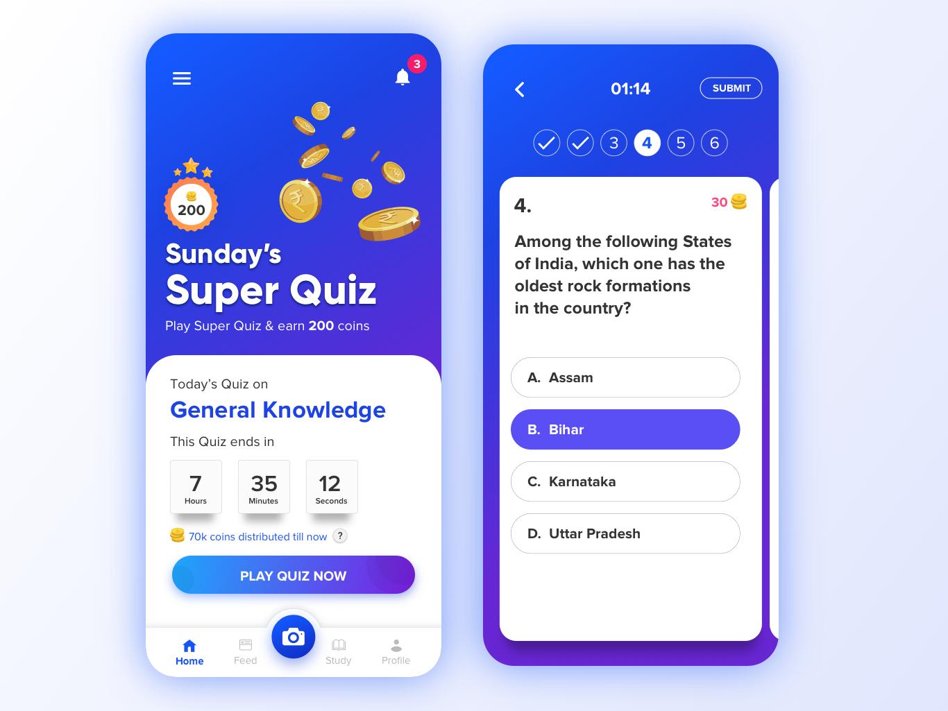 Quiz Super Quiz In 2020 Quiz Design Quiz App Design
