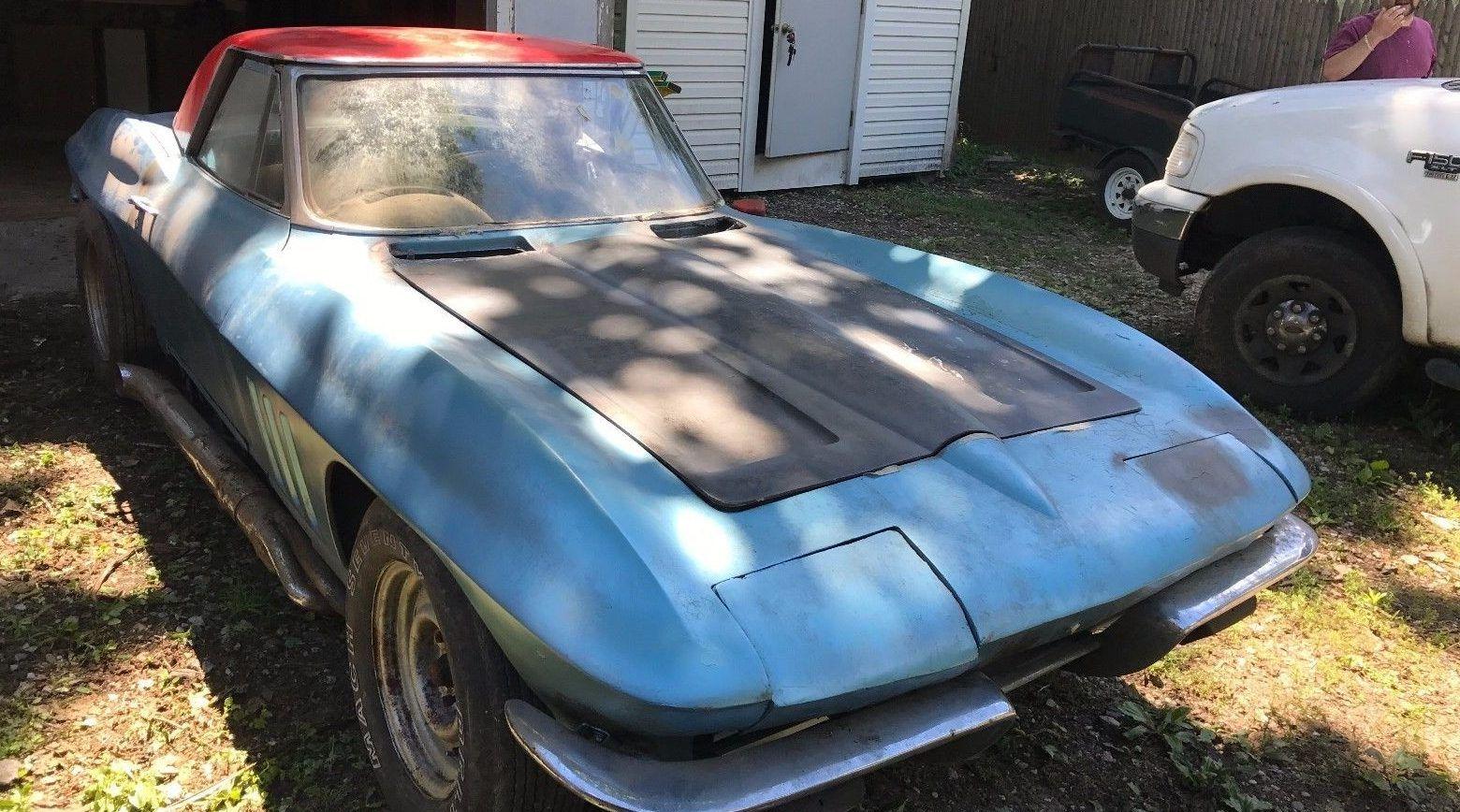 Rot Free Frame Barn Find 1965 Corvette 1965 Corvette Barn Finds Corvette