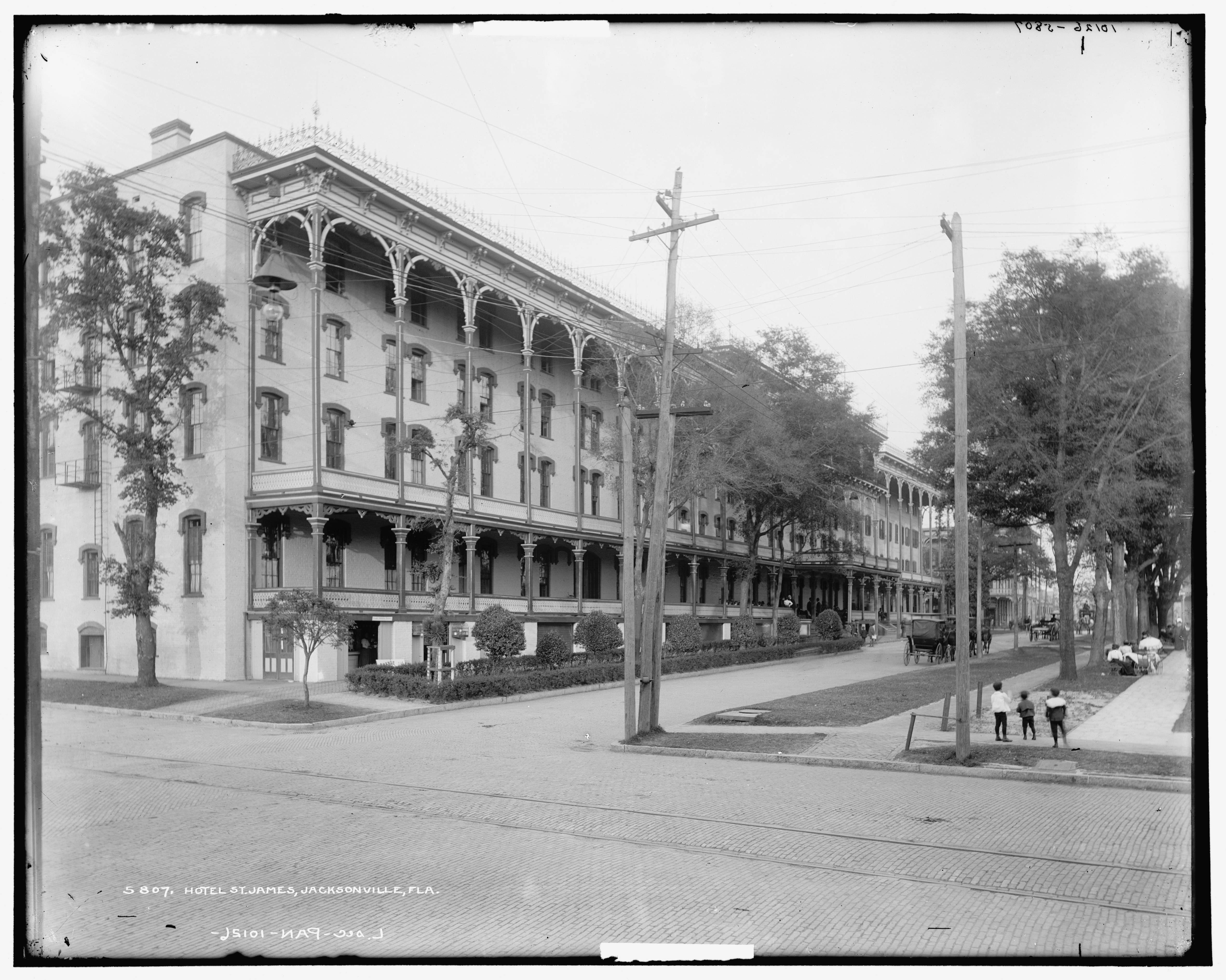 St James Hotel 1890s 117 W Duval St Jacksonville Fl Destroyed