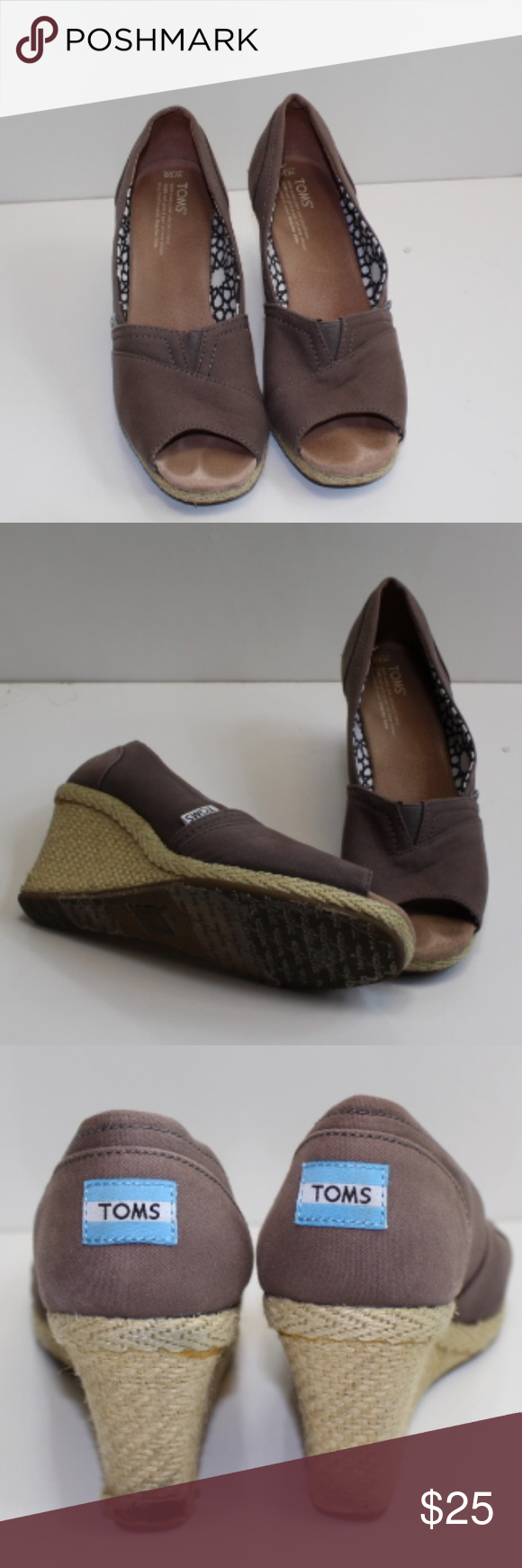 40f2daef43f 678 CALYPSO CANVAS WOMEN S WEDGES Toms SHOES