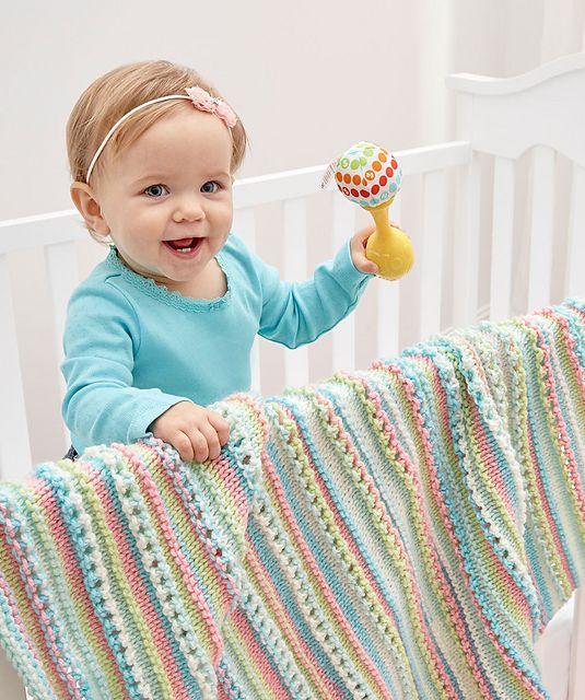Self-Striping Baby Blanket Free Knitting Pattern | COBIJAS ...