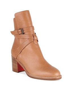 the best attitude 5a731 8bccd Christian Louboutin Karistrap 70 Leather Booties. Please ...