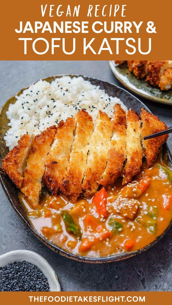 Tofu Katsu Curry Vegan Recipe Thefoodietakesflight In 2020 Vegan Japanese Food Katsu Recipes Vegan Recipes