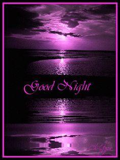 Good Message Night Glitter Graphics | Glitter Graphics » Misc » purple sunset good night