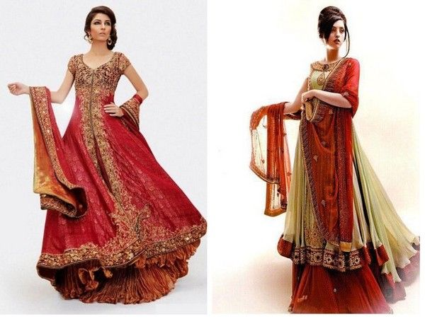 Beautiful Embroidery Bridal Dresses For Asian Brides Girls | Desi ...