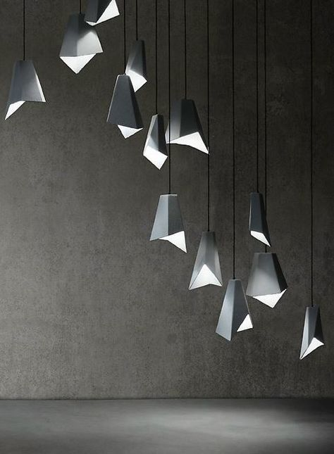 inspiration and ideas origami light lighting design lighting rh pinterest com