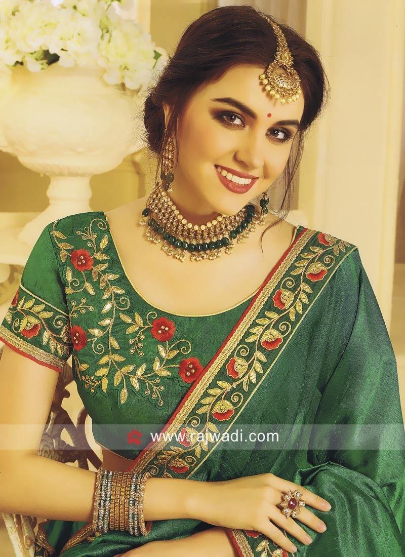 2edfd96d19d72 Traditional Art Silk Half Saree with Blouse