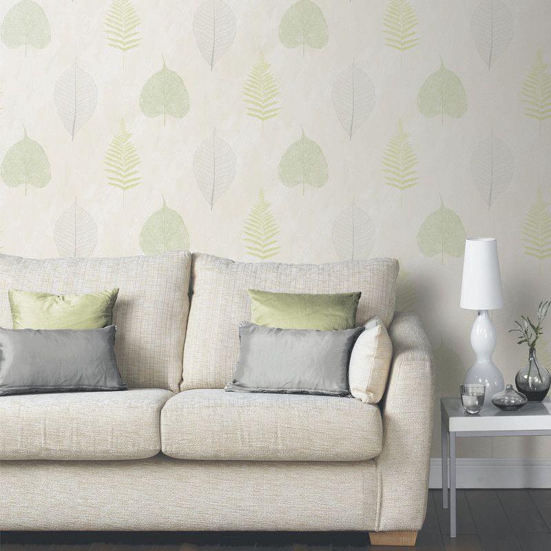 Arthouse Opera Thea Leaf And Tree Wallpaper - Green
