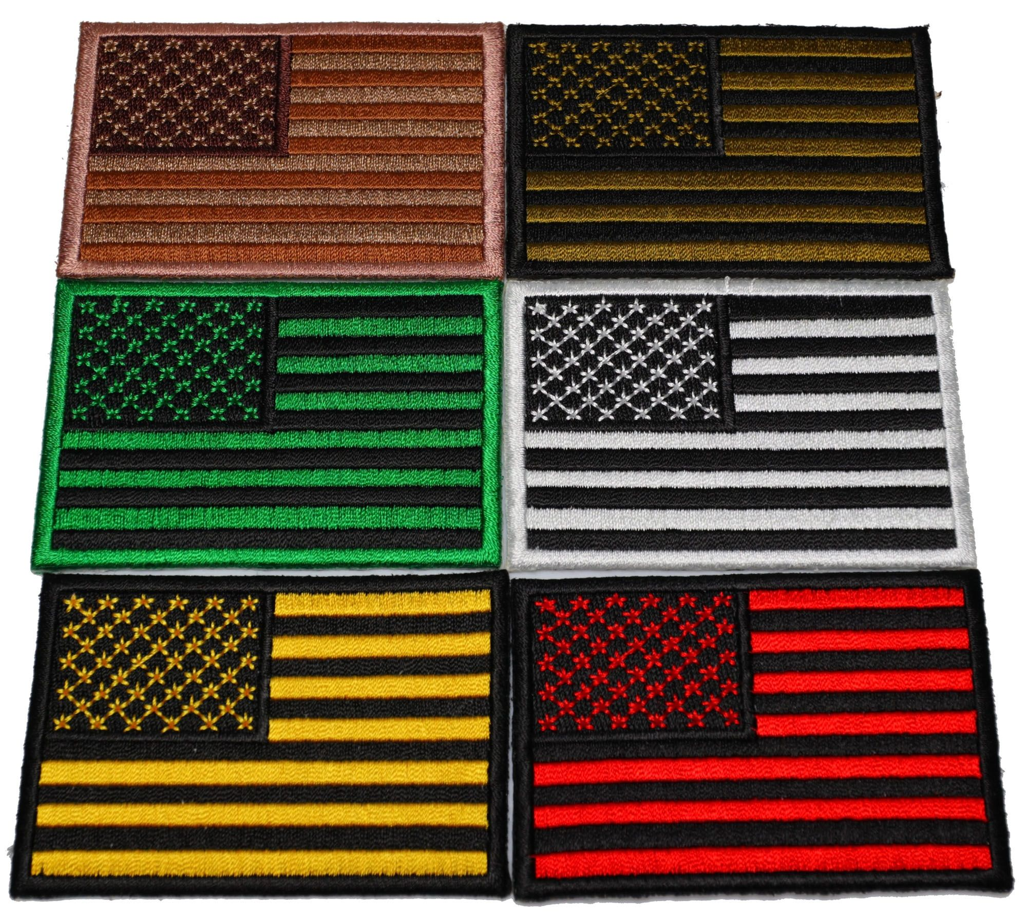 Set Of 6 American Flag Patches In Different Colors American Flag Patch Flag Patches American Flag