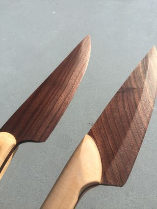 Wooden Chef Knife | Glow In The Dark | Wood knife, Chef knife, Knife