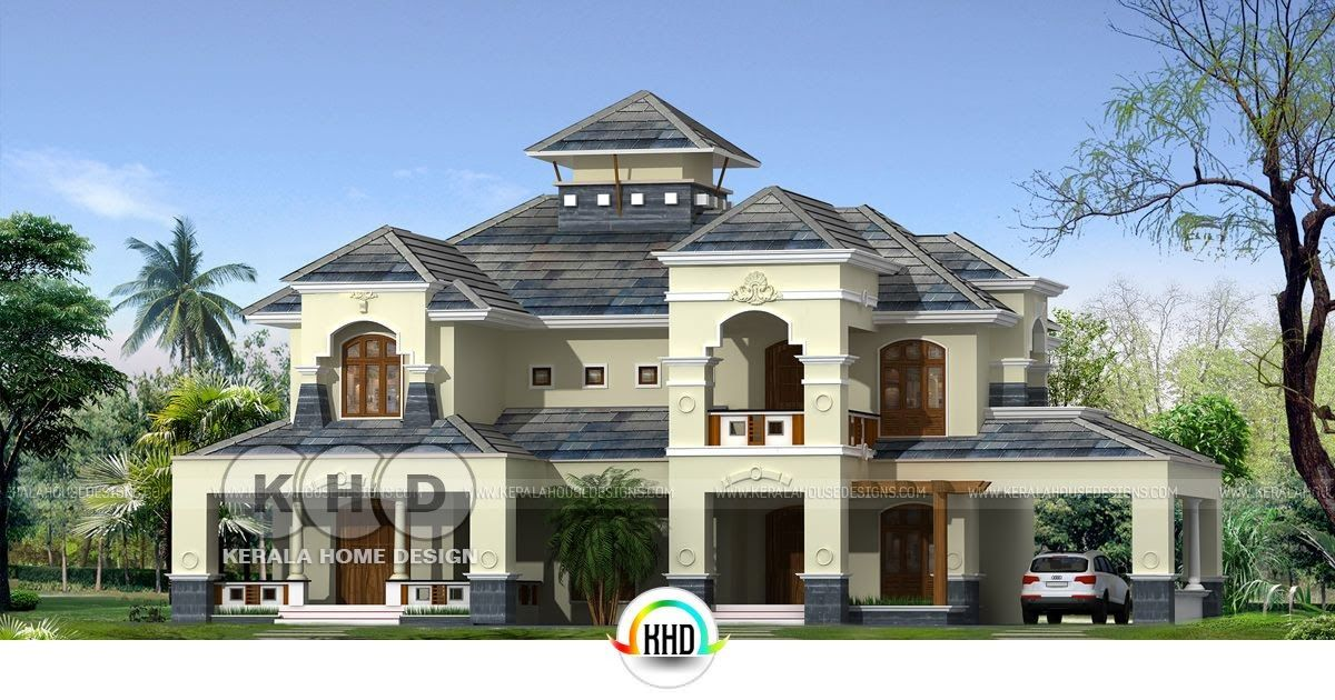 Residence In Colonial Style Architecture With 4 Bedrooms House
