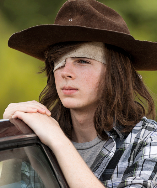 """ Carl Grimes in The Walking Dead Season 7 Episode 5   Go Getters ""                                                                                                                                                                                 More"