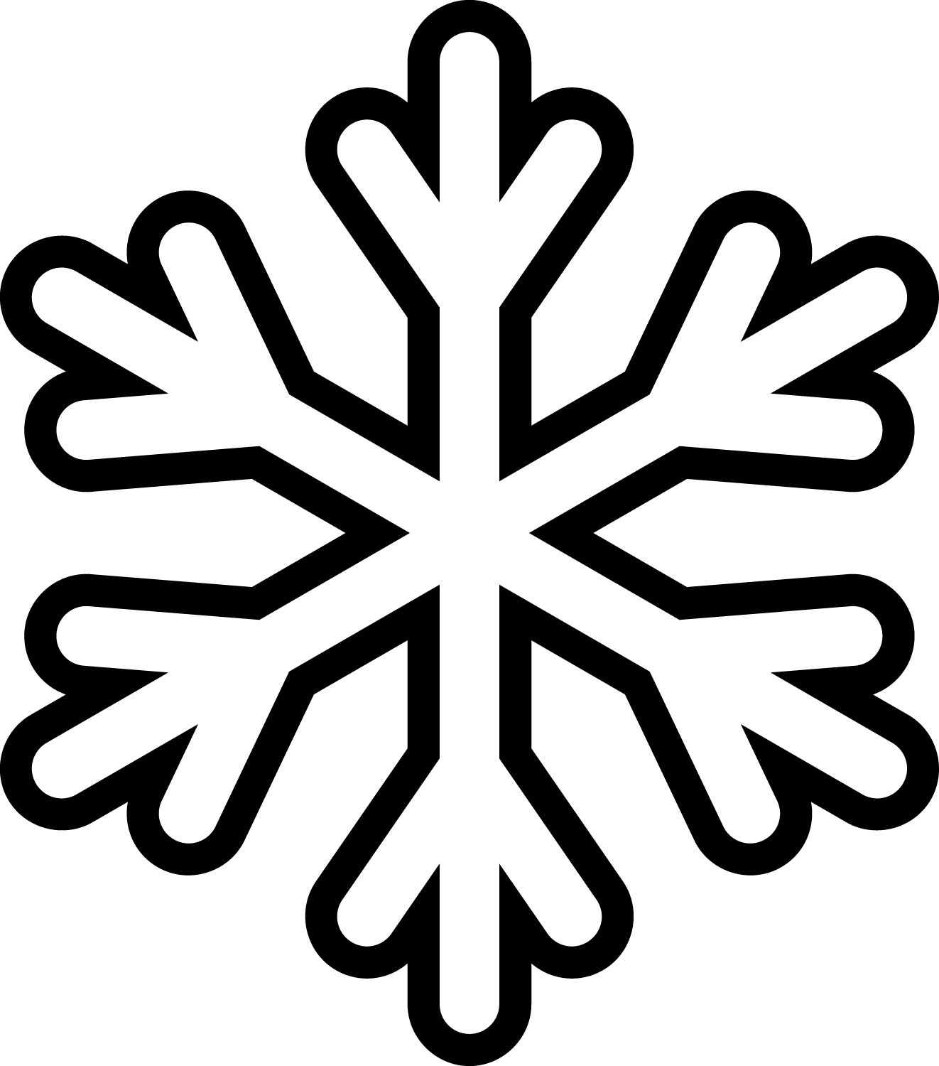 snowflake | Posts Related To Snowflake Cut Out Patterns Printable ...