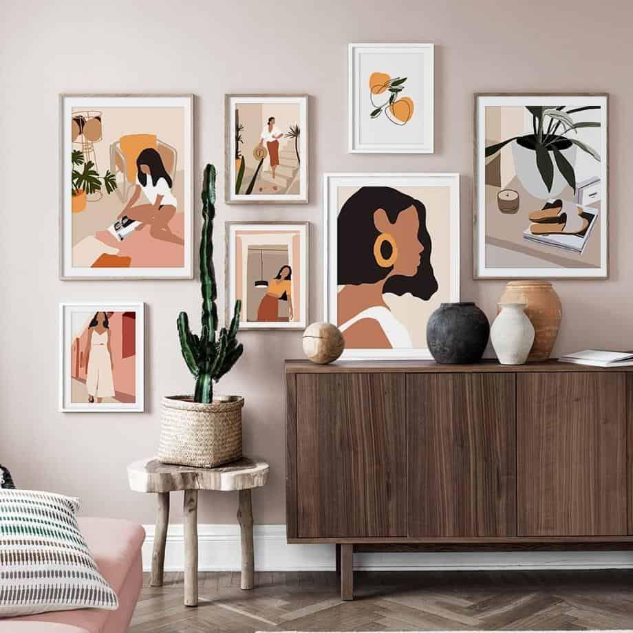 Home Decor Trends 2021 Wall Decor Abstract Line Art Idee Deco Mur Deco Interieure Deco