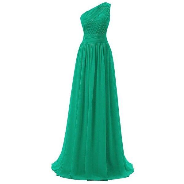 Dressever Women\'s Long One Shoulder Bridesmaid Asymmetric Prom ...