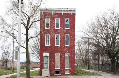 Forgotten Solo Row Houses graphed in Baltimore Philly and New Jersey