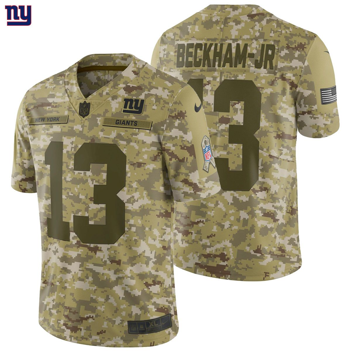 release date 43055 49fd4 Details about Odell Beckham Jr Nike 2018 Salute to Service ...
