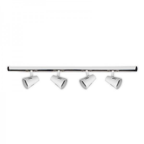 Riel 2 mts Blanco con 4 cabezales a eleccion para lampara Gu10 apto LED - THR...