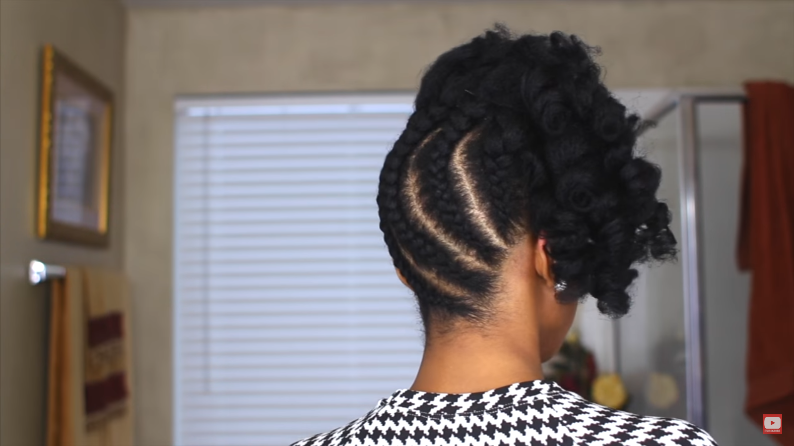 Think Pineapple Updos Take Too Long This Braided Pineapple Updo On Natural Hair Takes Less Than 10 Mins African American Hairstyle Videos Aahv Pineapple Hairstyle Tree Braids Hairstyles Kids Braided Hairstyles